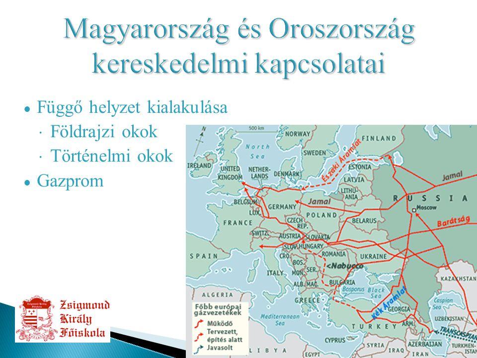 9 ● Függő helyzet kialakulása  Földrajzi okok  Történelmi okok ● Gazprom