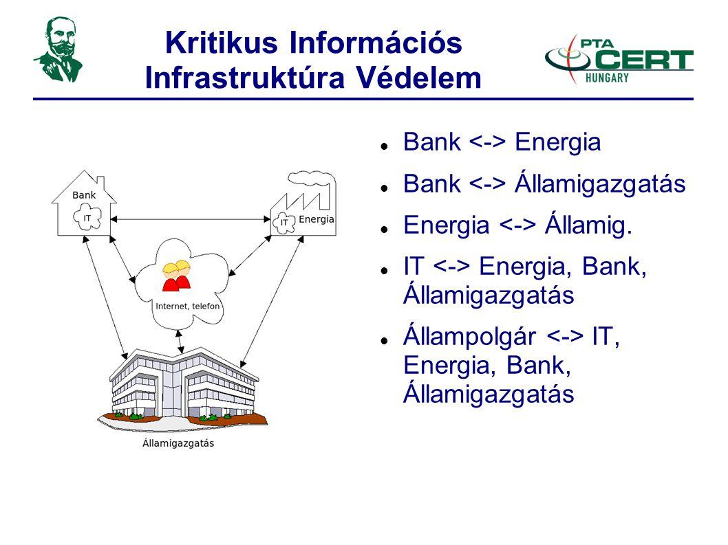 Kritikus Információs Infrastruktúra Védelem  Bank Energia  Bank Államigazgatás  Energia Államig.