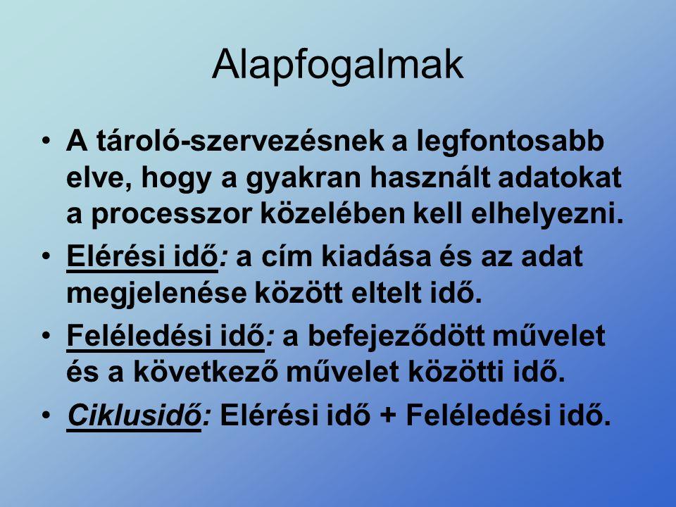 Logikai - fizikai címek Logikai cím(tartomány)Fizikai cím(tartomány) központi memória mérete...