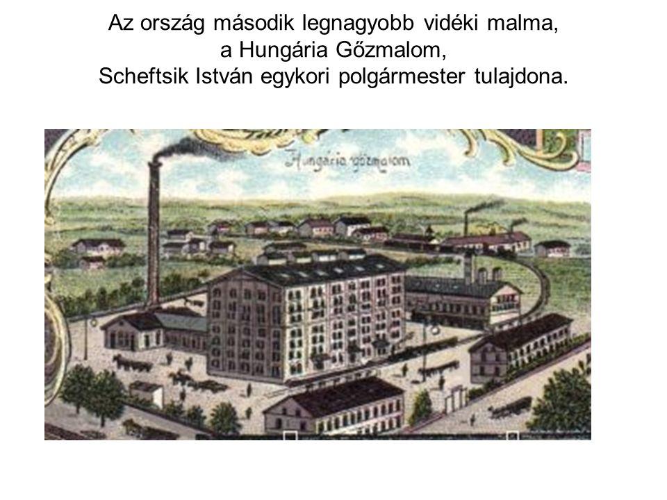 Az ország második legnagyobb vidéki malma, a Hungária Gőzmalom, Scheftsik István egykori polgármester tulajdona.