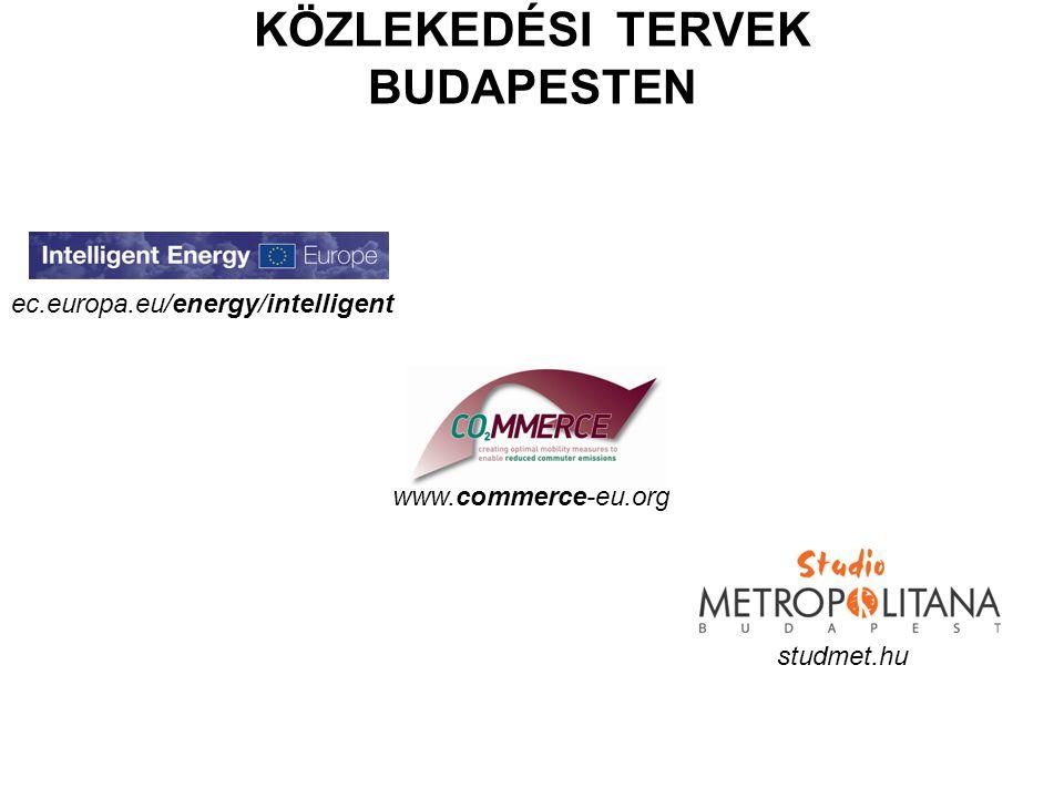 KÖZLEKEDÉSI TERVEK BUDAPESTEN www.commerce-eu.org studmet.hu ec.europa.eu/energy/intelligent