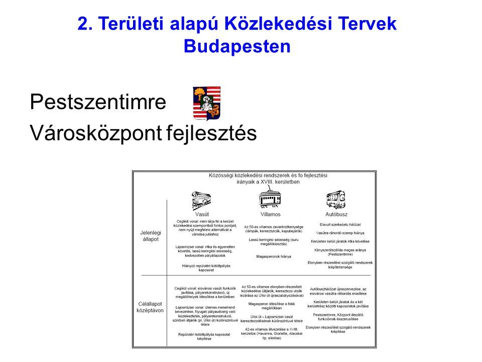 2. Területi alapú Közlekedési Tervek Budapesten Pestszentimre Városközpont fejlesztés