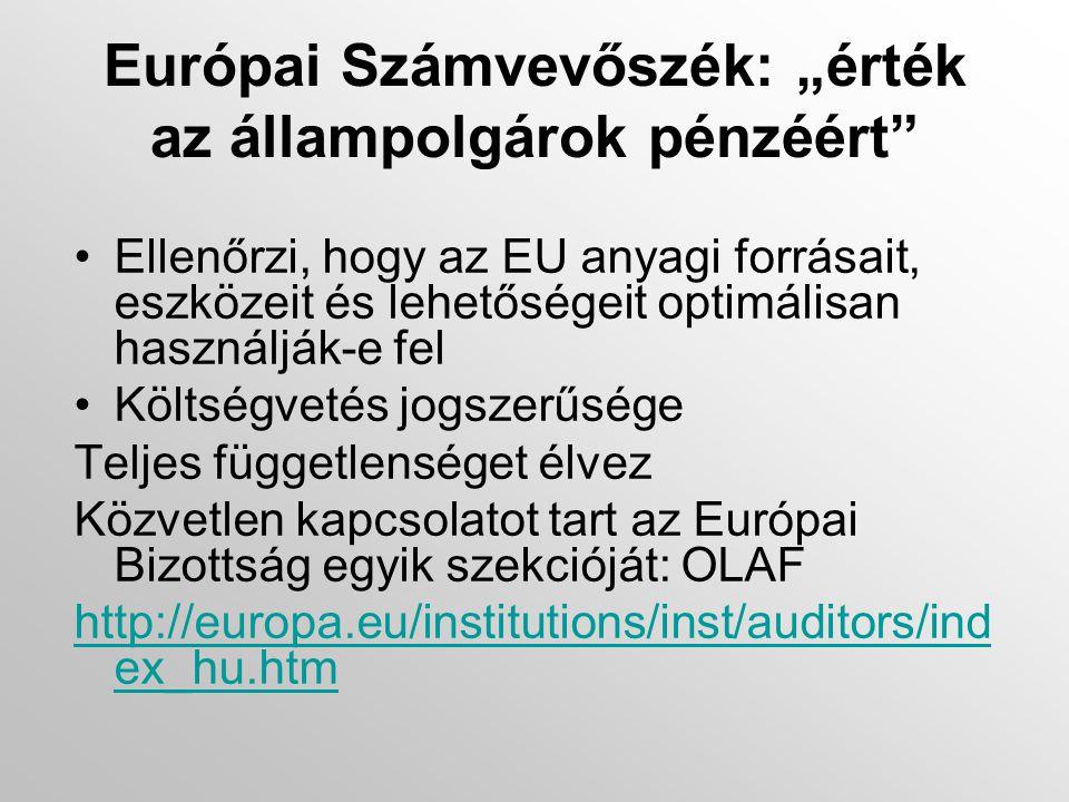 """Európai Gazdasági és Szociális Bizottság (EGSZB): a civil társadalom """"hangja Az EU Tanácsa, az Európai Parlament és az Európai Bizottság tanácsadója (felkérésre, illetve saját kezdeményezésre) http://www.eesc.europa.eu/?i=portal.hu.hom e"""