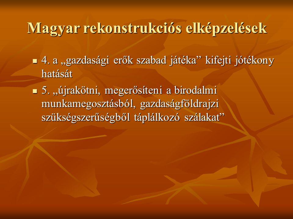 Magyar rekonstrukciós elképzelések  4.