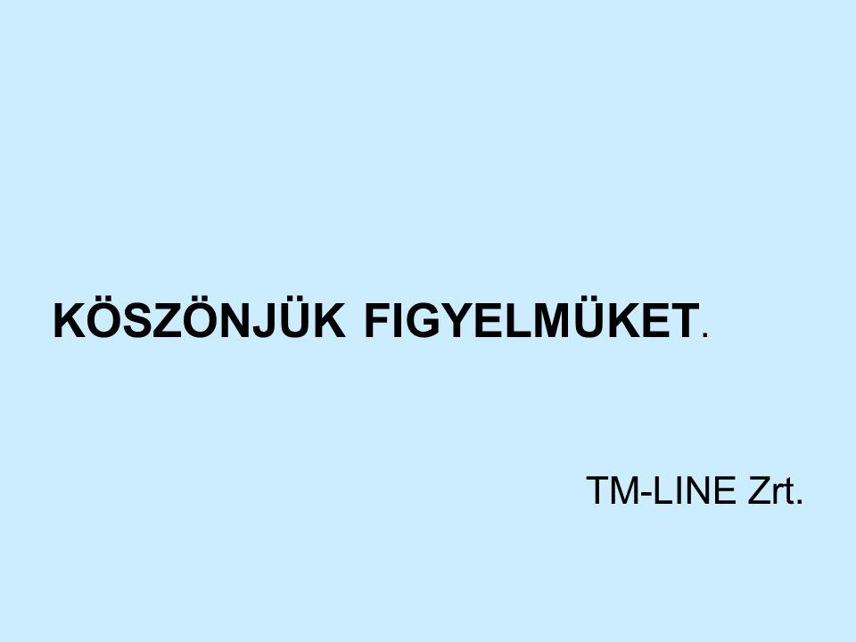 KÖSZÖNJÜK FIGYELMÜKET. TM-LINE Zrt.