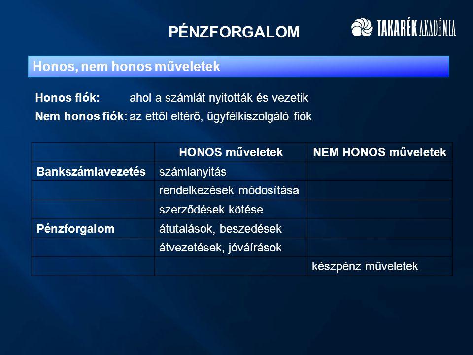 """ELSZÁMOLÁSFORGALOM TKSZ """"A TKSZ """"B FIÓK 1.FIÓK n.FIÓK 1."""