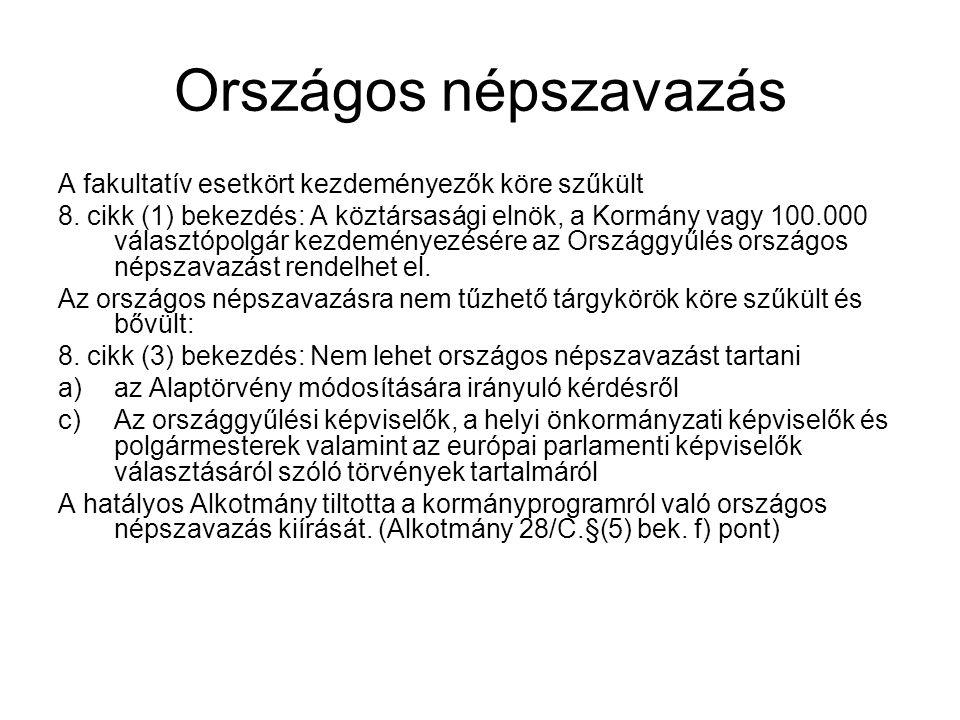 Országos népszavazás A fakultatív esetkört kezdeményezők köre szűkült 8.