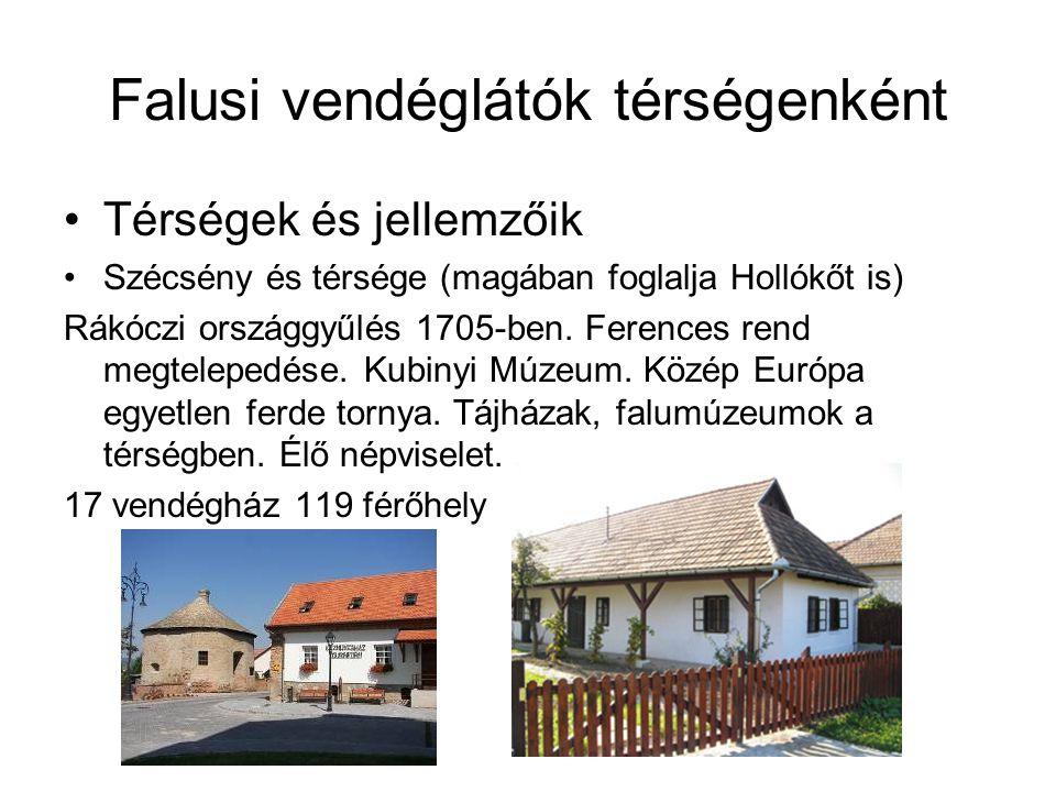 Falusi vendéglátók térségenként •Térségek és jellemzőik •Szécsény és térsége (magában foglalja Hollókőt is) Rákóczi országgyűlés 1705-ben. Ferences re