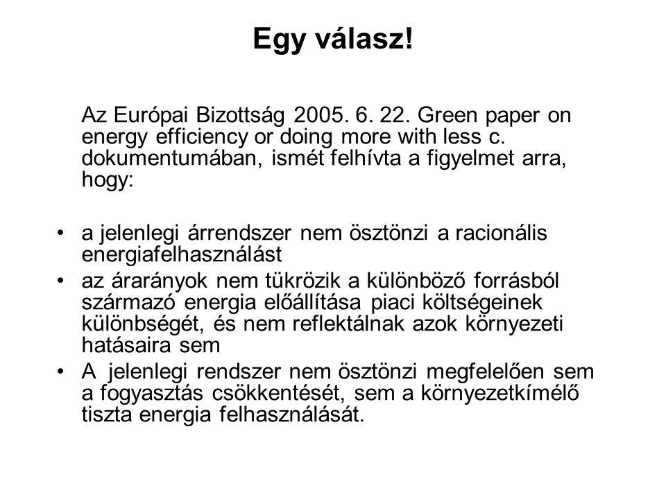 Egy válasz. Az Európai Bizottság 2005. 6. 22.
