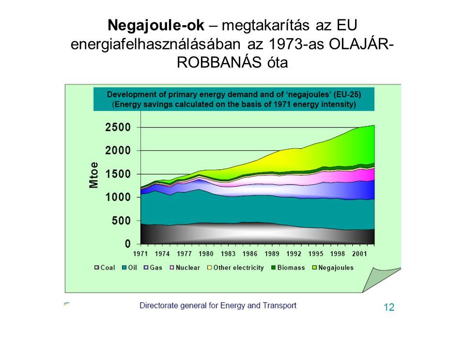 Negajoule-ok – megtakarítás az EU energiafelhasználásában az 1973-as OLAJÁR- ROBBANÁS óta