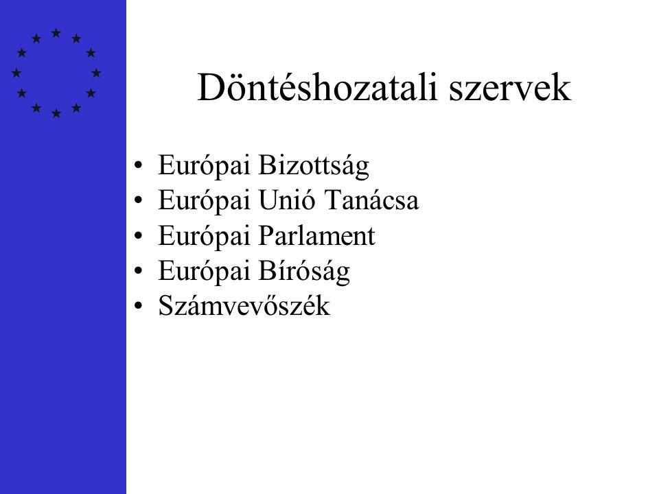 Egyéb intézmények •Régiók Bizottsága •Gazdasági és Szociális Bizottság •Európai Beruházási Bank •Európai Központi Bank •Európai Ombudsman
