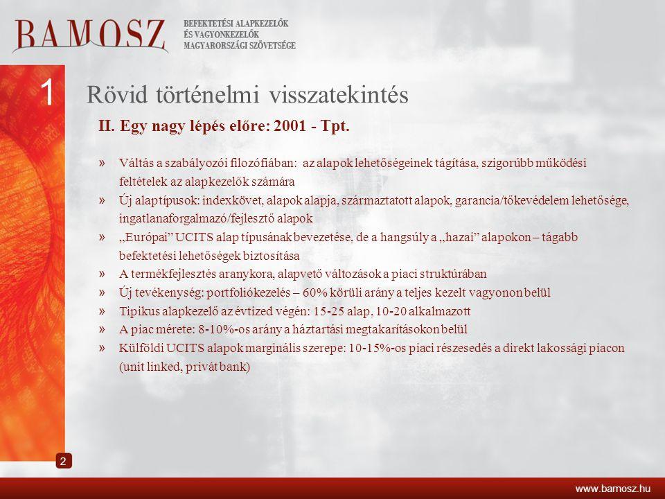 Alaptípusok piaci részesedésének változása www.bamosz.hu 2 4