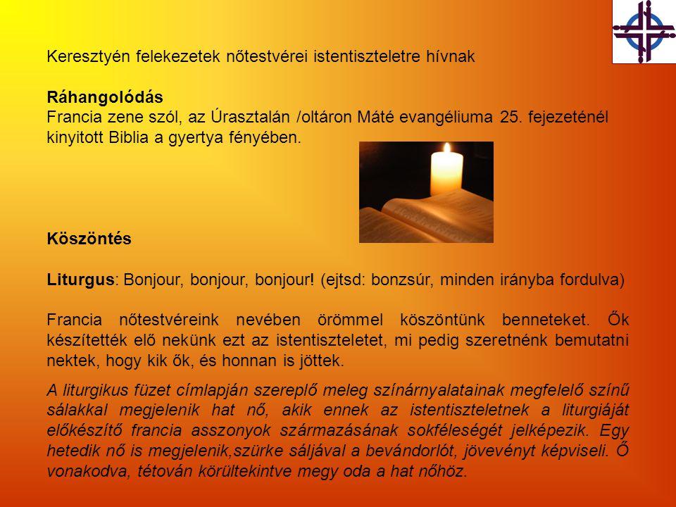 Az imanap liturgiáját és a füzetben található segédanyagokat fordította: Dr.