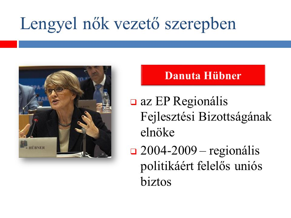 Lengyel nők vezető szerepben  a Lengyel Köztársaság volt miniszerelnöke (1992- 1993)