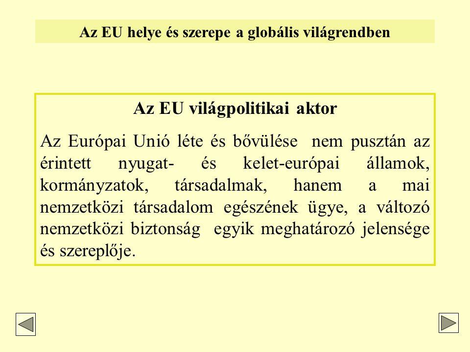 """A globalizmus profilja és az """"európai út – 2."""