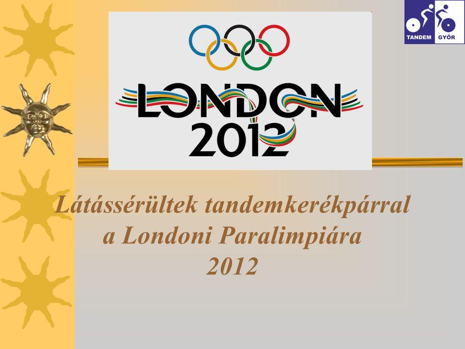 Látássérültek tandemkerékpárral a Londoni Paralimpiára 2012