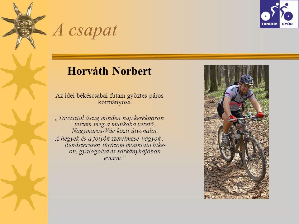 A csapat Horváth Norbert Az idei békéscsabai futam győztes páros kormányosa.