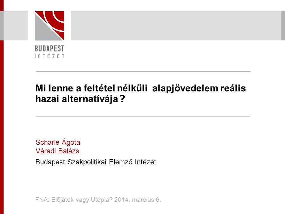  Kitérő a jóléti ellátásokról www.budapestinstitute.eu