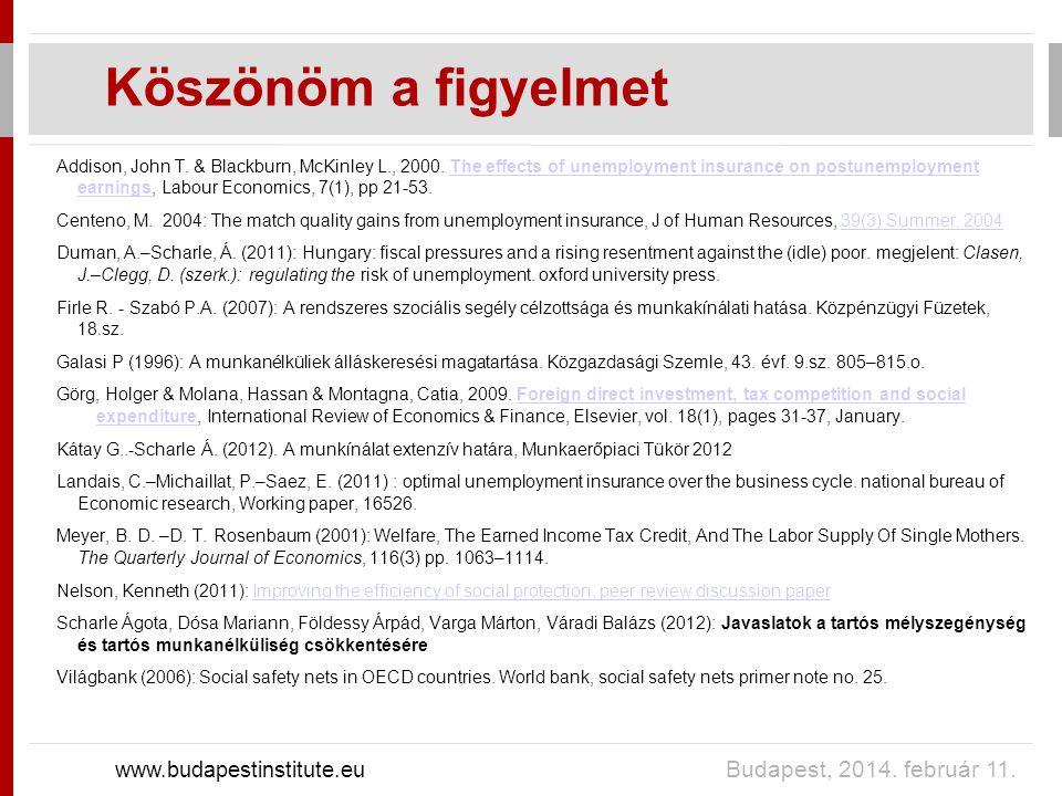Köszönöm a figyelmet www.budapestinstitute.eu Budapest, 2014.
