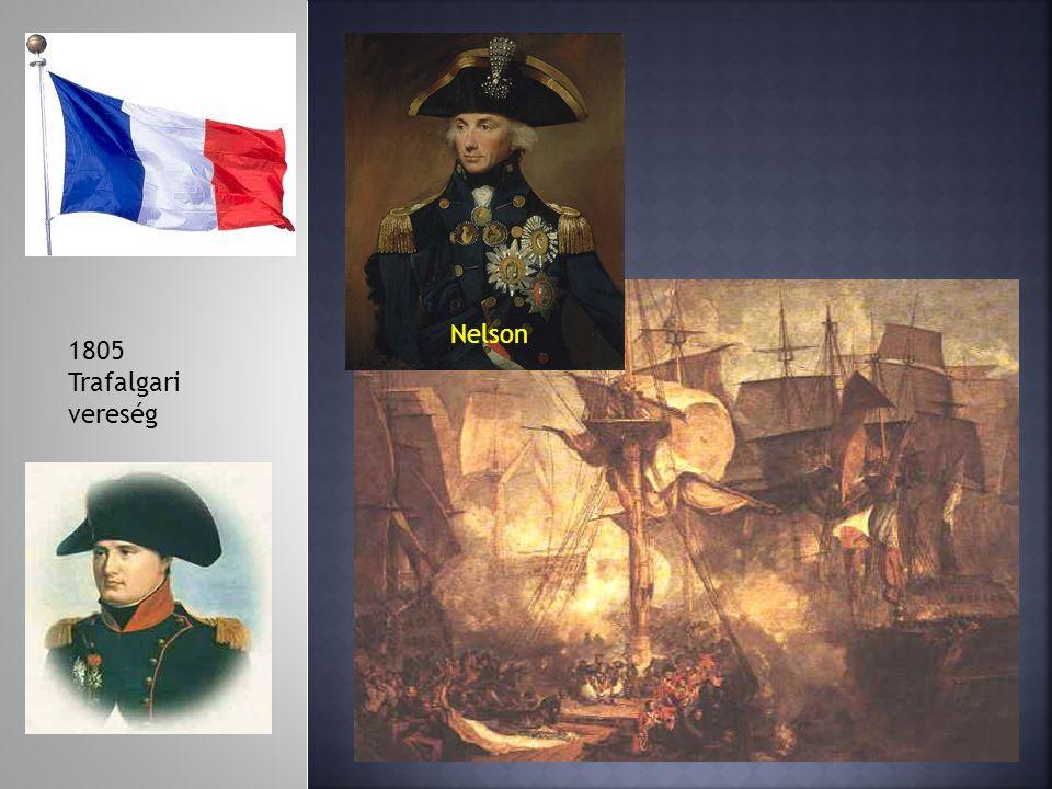 1805 Trafalgari vereség Nelson