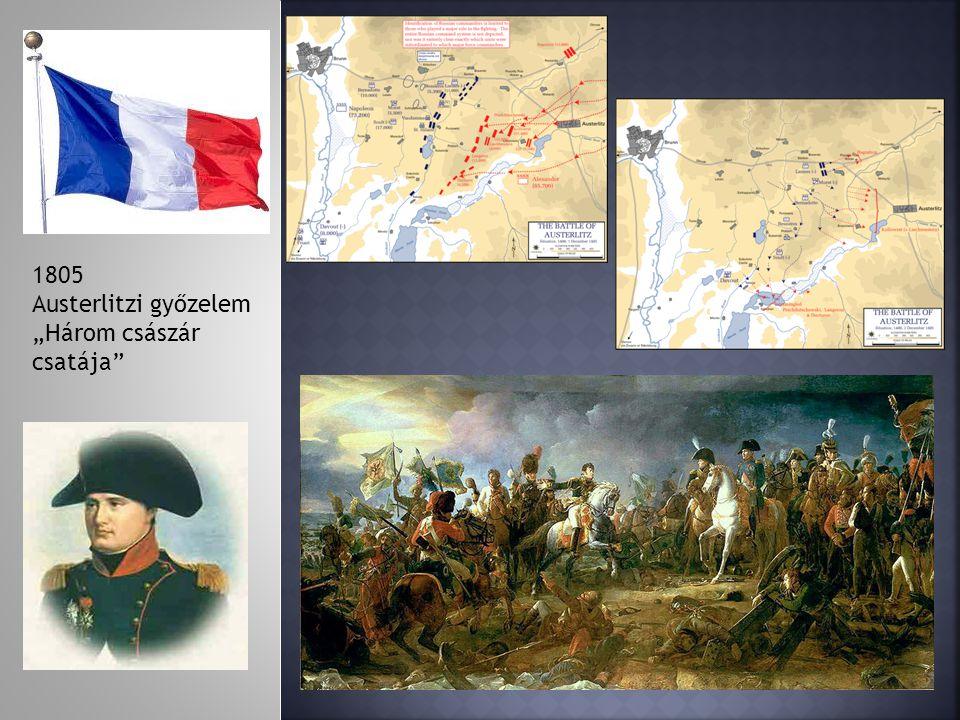 """1805 Austerlitzi győzelem """"Három császár csatája"""