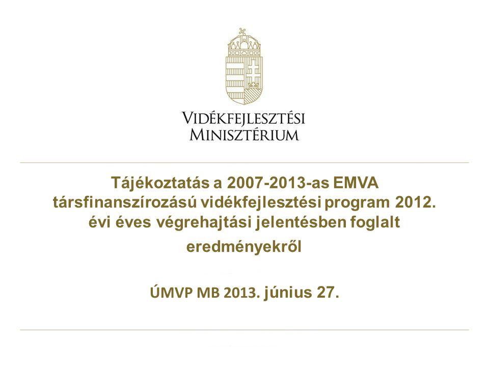 Tájékoztatás a 2007-2013-as EMVA társfinanszírozású vidékfejlesztési program 2012.