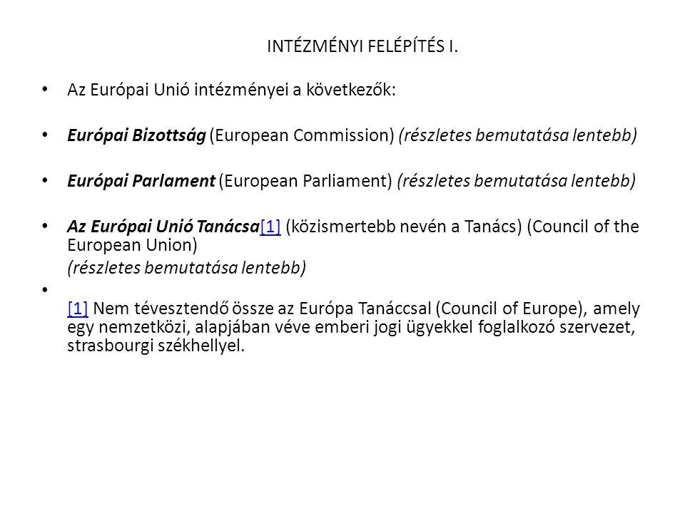 A Tanács • A TANÁCS • A Tanács az Unió legfőbb döntéshozó testülete, a tagállamok (vagyis a tagállami kormányok) fóruma.