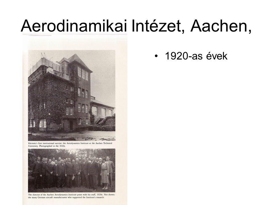 Aerodinamikai Intézet, Aachen, •1920-as évek