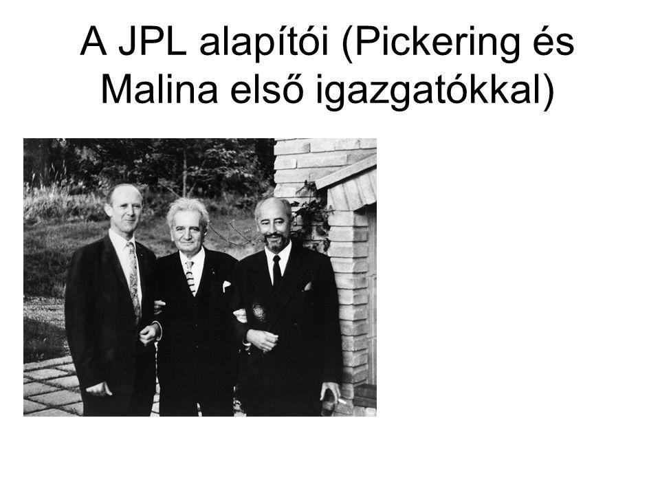 A JPL alapítói (Pickering és Malina első igazgatókkal)