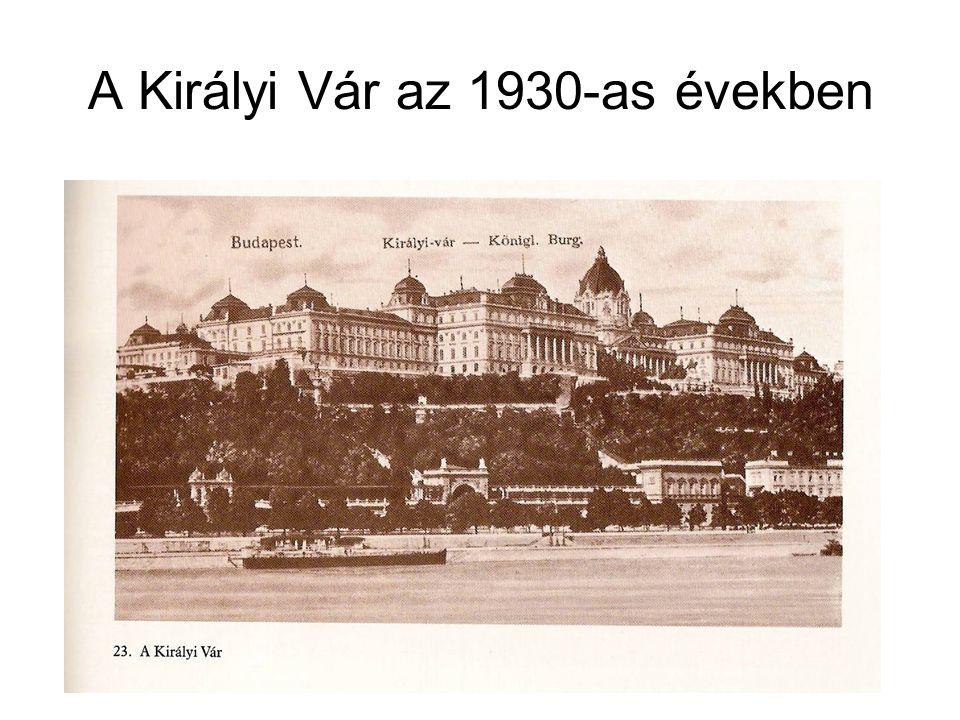 A Királyi Vár az 1930-as években