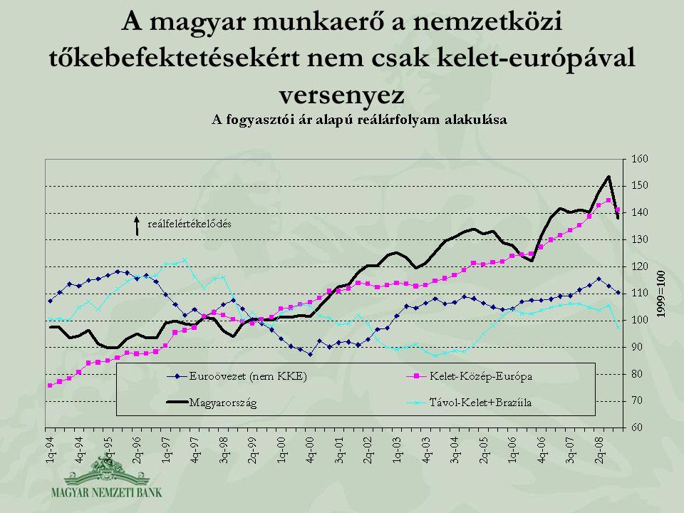 A magyar munkaerő a nemzetközi tőkebefektetésekért nem csak kelet-európával versenyez