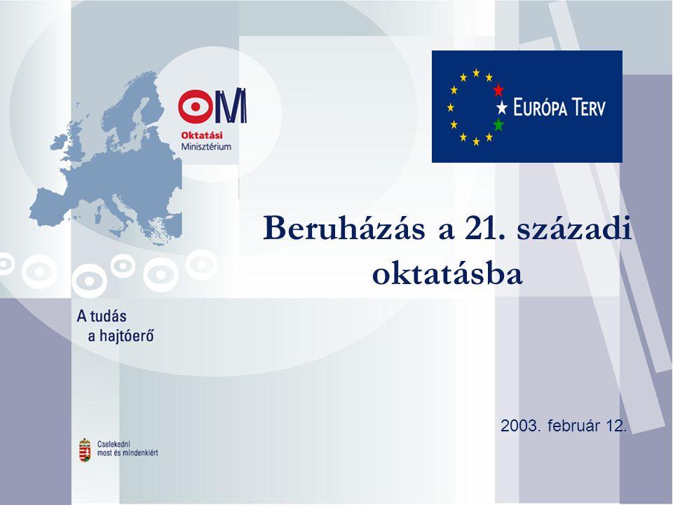 Beruházás a 21. századi oktatásba. 2003. február 12.