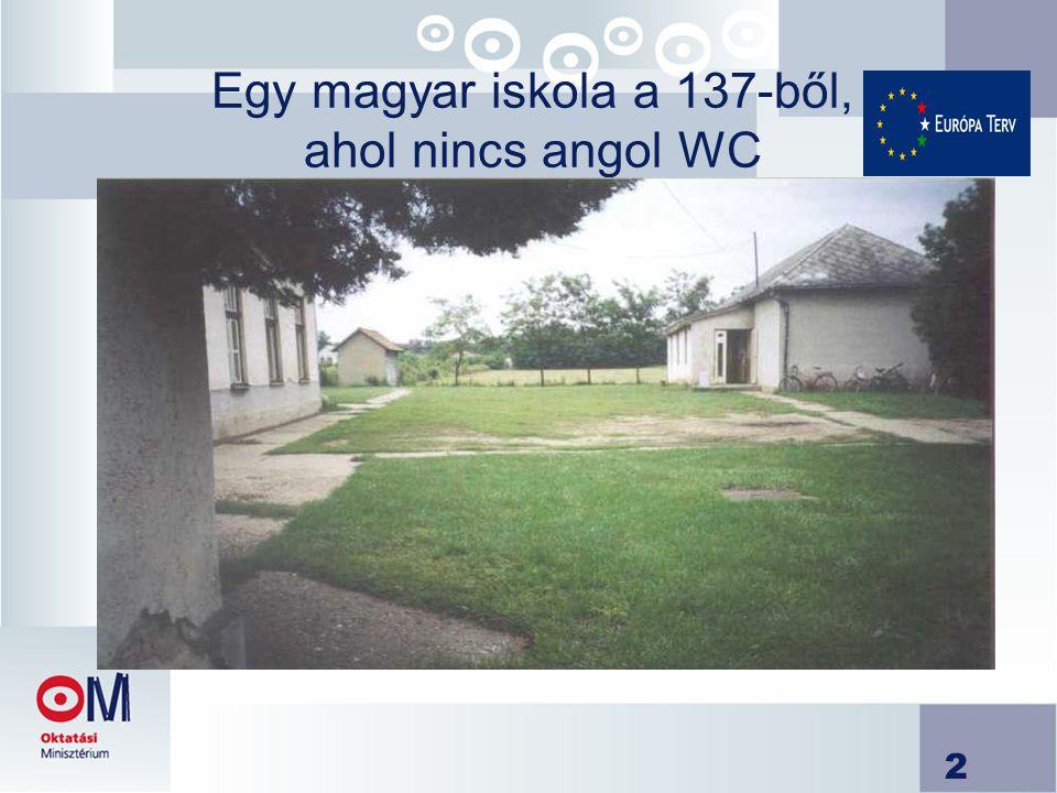 2 Egy magyar iskola a 137-ből, ahol nincs angol WC