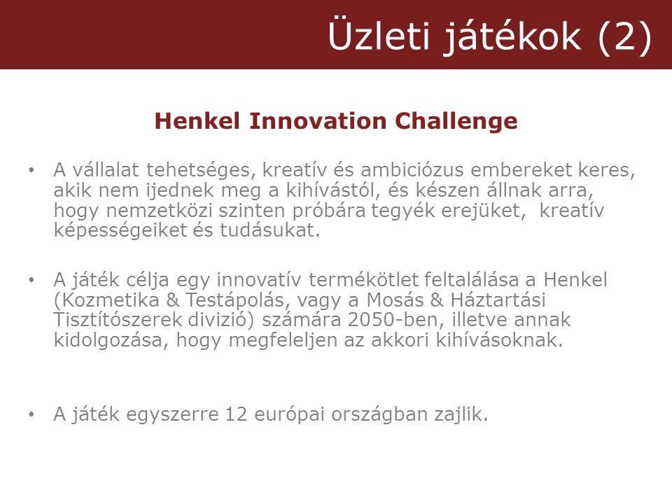 Henkel Innovation Challenge • A vállalat tehetséges, kreatív és ambiciózus embereket keres, akik nem ijednek meg a kihívástól, és készen állnak arra, hogy nemzetközi szinten próbára tegyék erejüket, kreatív képességeiket és tudásukat.
