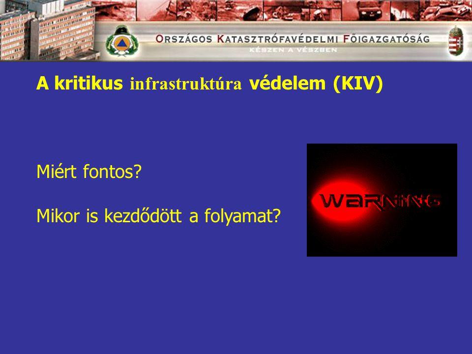 A kritikus infrastruktúra védelem (KIV) Miért fontos Mikor is kezdődött a folyamat