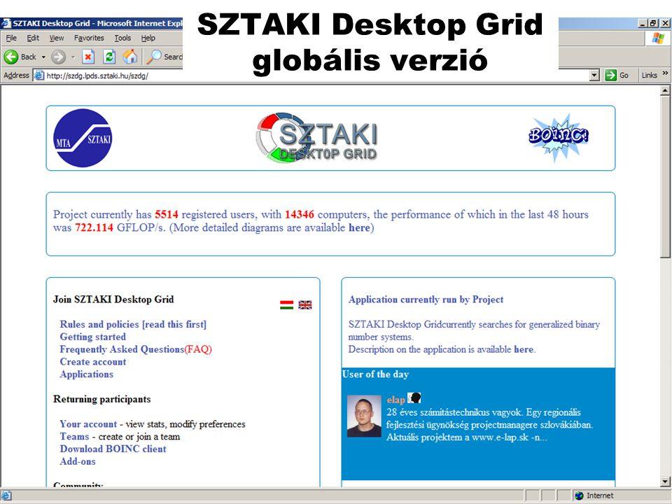 SZTAKI Desktop Grid globális verzió