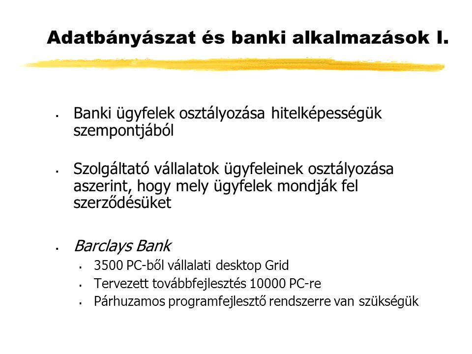 Adatbányászat és banki alkalmazások I.