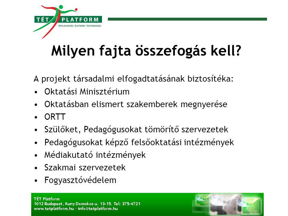 A Media Smart program Magyarországon •A reklámpiaci szereplők támogatása mecenatúra- jellegű.