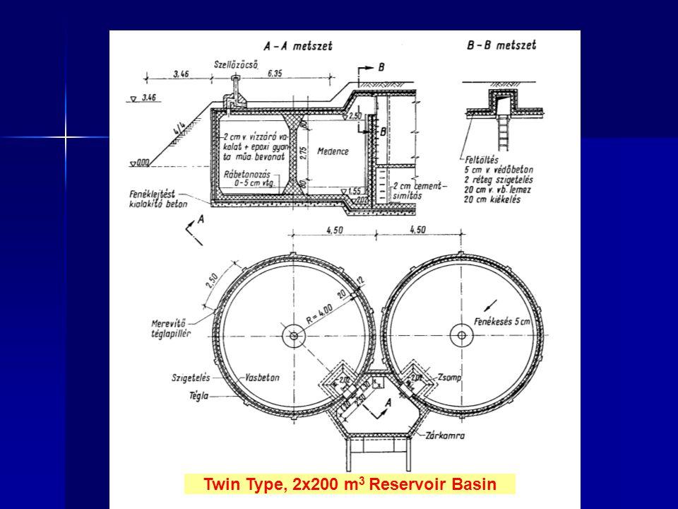 Twin Type, 2x200 m 3 Reservoir Basin
