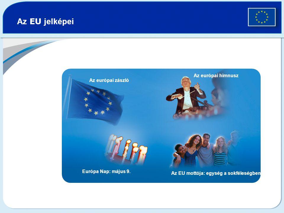 Az EU jelképei Az európai zászló Az európai himnusz Európa Nap: május 9.