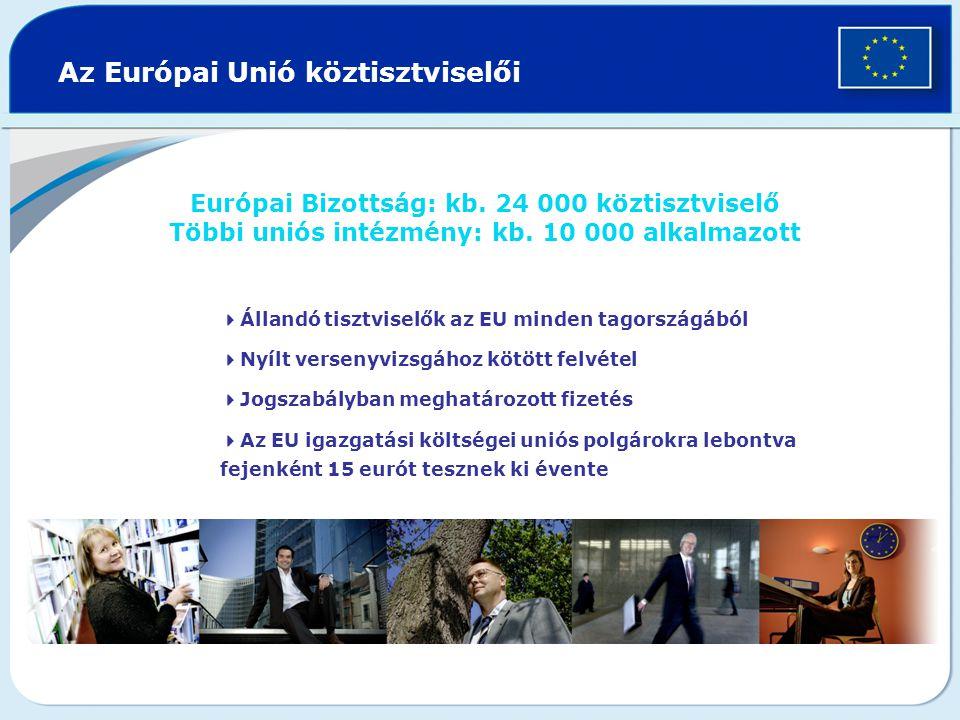 Az Európai Unió köztisztviselői Európai Bizottság: kb.