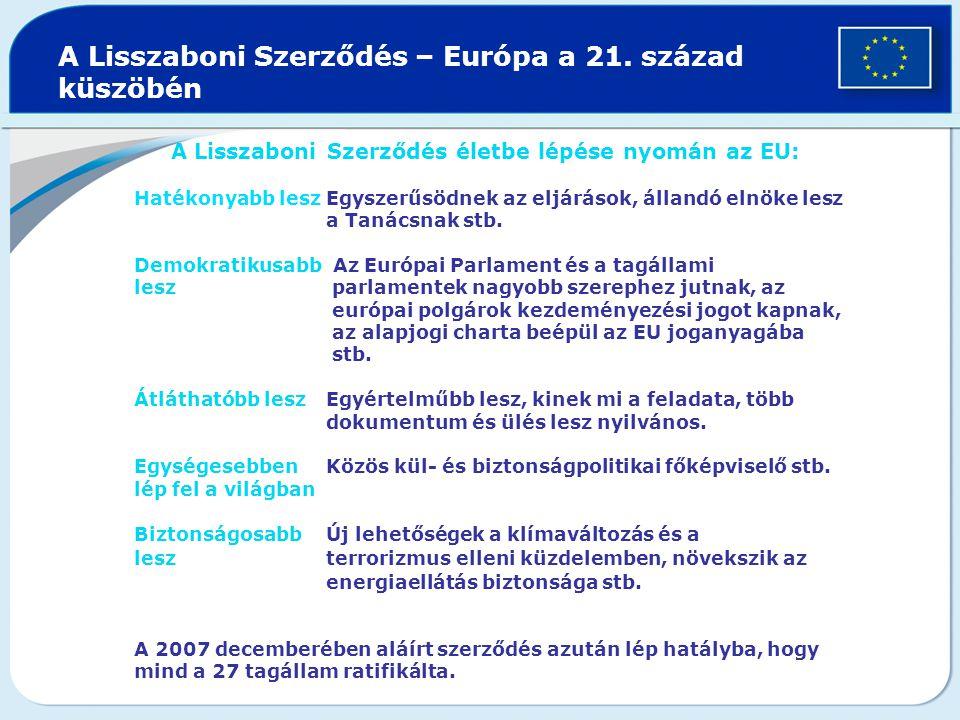 A Lisszaboni Szerződés – Európa a 21.