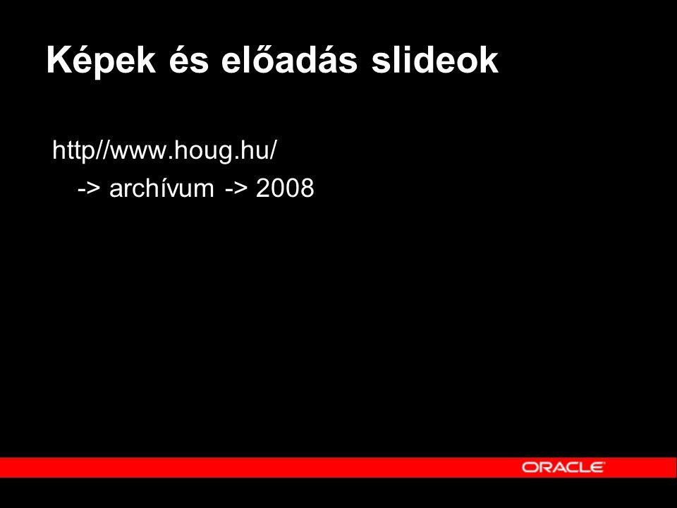 Képek és előadás slideok http//www.houg.hu/ -> archívum -> 2008