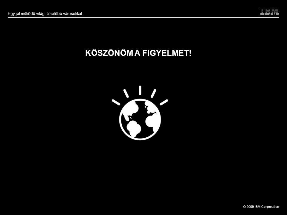 © 2009 IBM Corporation Egy jól működő világ, élhetőbb városokkal KÖSZÖNÖM A FIGYELMET!