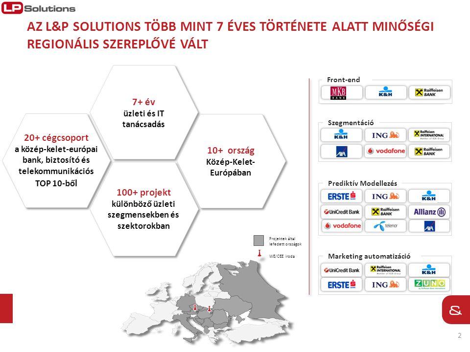 2 7+ év üzleti és IT tanácsadás 10+ ország Közép-Kelet- Európában 100+ projekt különböző üzleti szegmensekben és szektorokban 20+ cégcsoport a közép-k