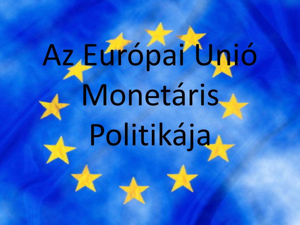 Árstabilitás • A nagymértékű árstabilitás érdekében az EUSZ előírja, hogy a 3.