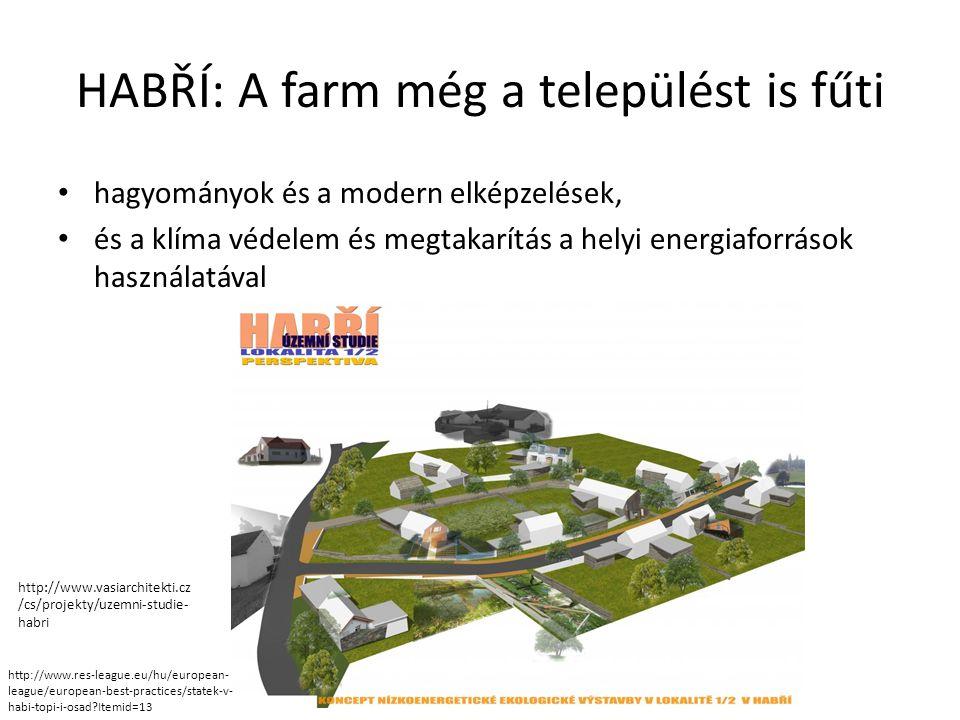 HABŘÍ: A farm még a települést is fűti • hagyományok és a modern elképzelések, • és a klíma védelem és megtakarítás a helyi energiaforrások használatá