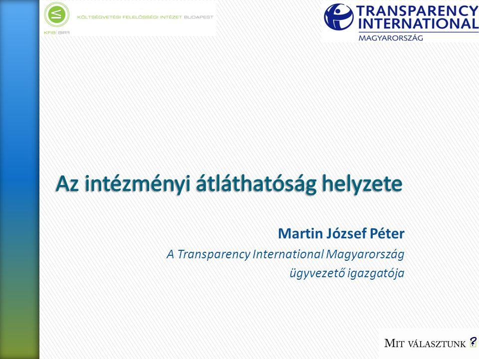 Martin József Péter A Transparency International Magyarország ügyvezető igazgatója