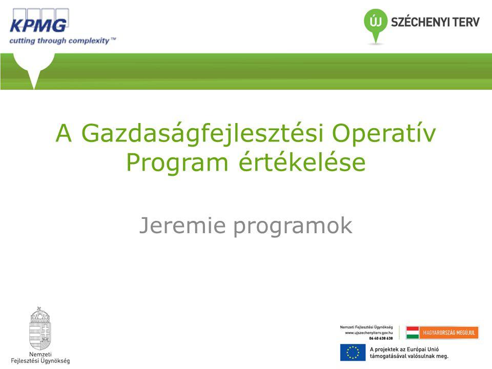 A Gazdaságfejlesztési Operatív Program értékelése Jeremie programok
