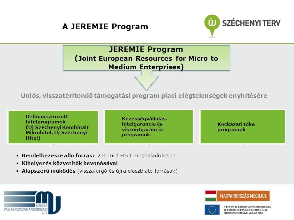 A JEREMIE Program JEREMIE Program ( Joint European Resources for Micro to Medium Enterprises ) JEREMIE Program ( Joint European Resources for Micro to